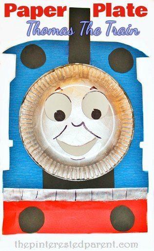 Paper Plate Thomas The Train Craft  sc 1 st  The Pinterested Parent & Thomas The Train Crafts u2013 The Pinterested Parent