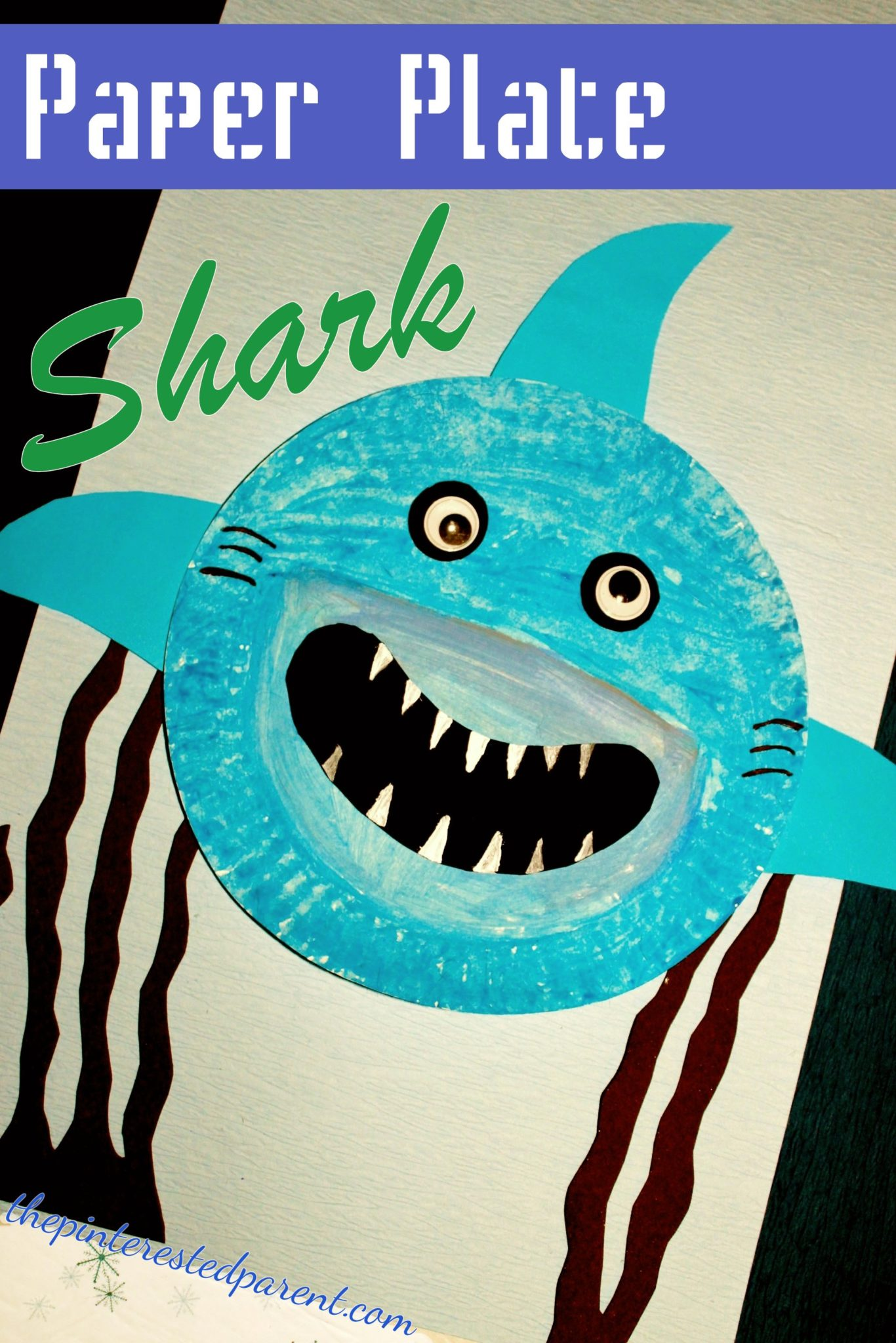 Paper Plate Shark Craft - kid\u0027s ocean and underwater arts and craft. Great for shark : paper plates arts and crafts - pezcame.com