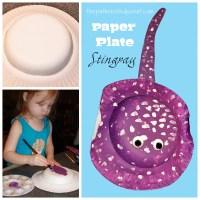 Paper Plate Stingray Craft