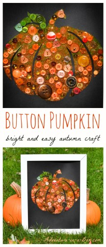 Button-Pumpkin-Autumn-Craft-for-Children