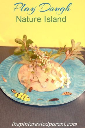 Paper Plate Play Dough Nature Island - This kid's craft & activity combines art, fine motor skills, sensory & nature.Great for toddlers and preschoolers