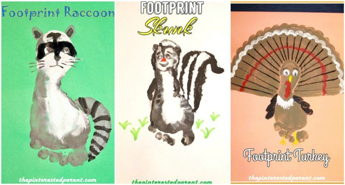 Footprint Animal Crafts A - Z featuring R,S & T