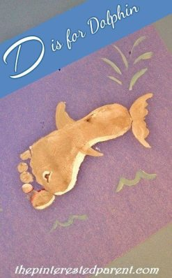 Footprint Dolphin Craft -FootprintCraftsA-ZDisfordolphin