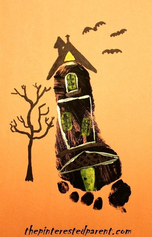 haunted house crafts the pinterested parent