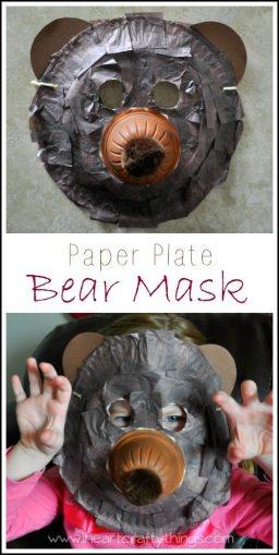 Paper Plate Bear Mask