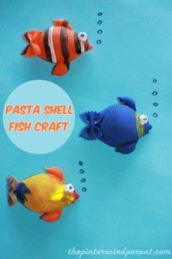 Pasta-Shell-Fish-Craft