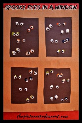 Spooky Eyes In A Window Craft - Kid's Craft for Halloween