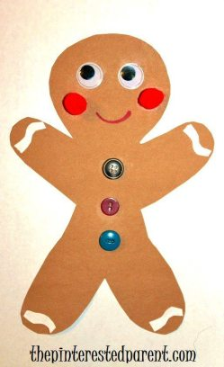 Gingerbread Christmas Craft for kids