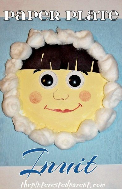 Paper Plate Inuit ( Eskimo ) Kid's Craft