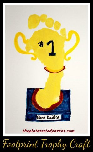 Footprint Trophy For Daddy Craft