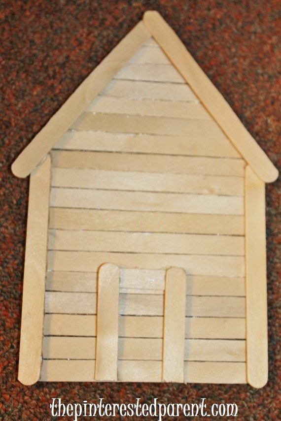 Popsicle Stick Gingerbread House Ornaments The