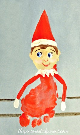 Footprint Elf On the Shelf - A cute keepsake for the kids for Christmas - holiday arts and crafts