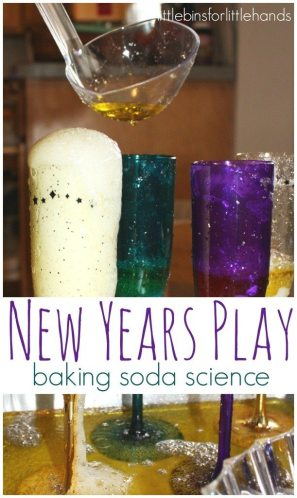 New Year's Fizzy Science from Little Bins For Little Hands