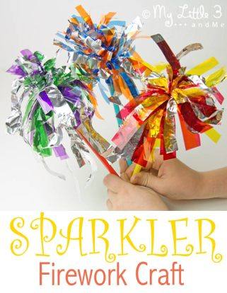 Sparkler Firework Craft from Kid's Craft Room