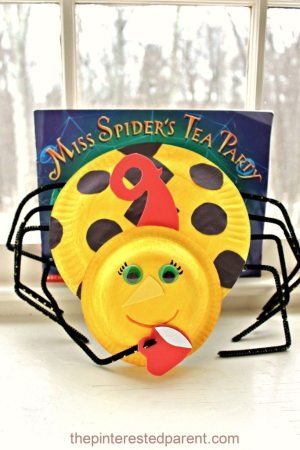 Paper Plate Kid's Craft inspired by Miss Spider's Tea Party