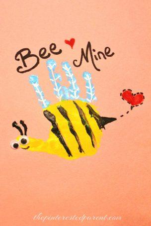 Valentine's Hand Print - Bee Mine