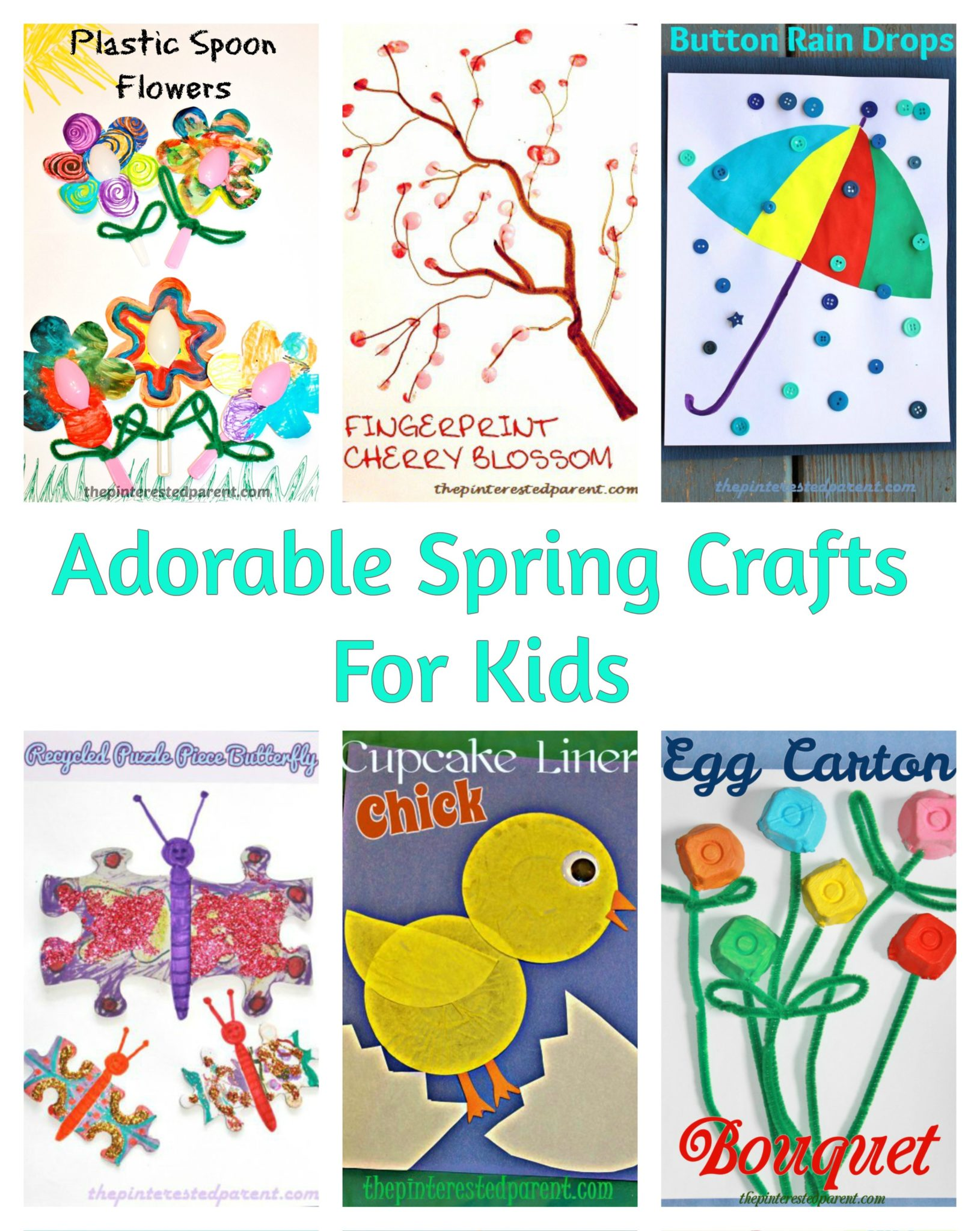 Cute Simple Spring Crafts For Kids The Pinterested Parent