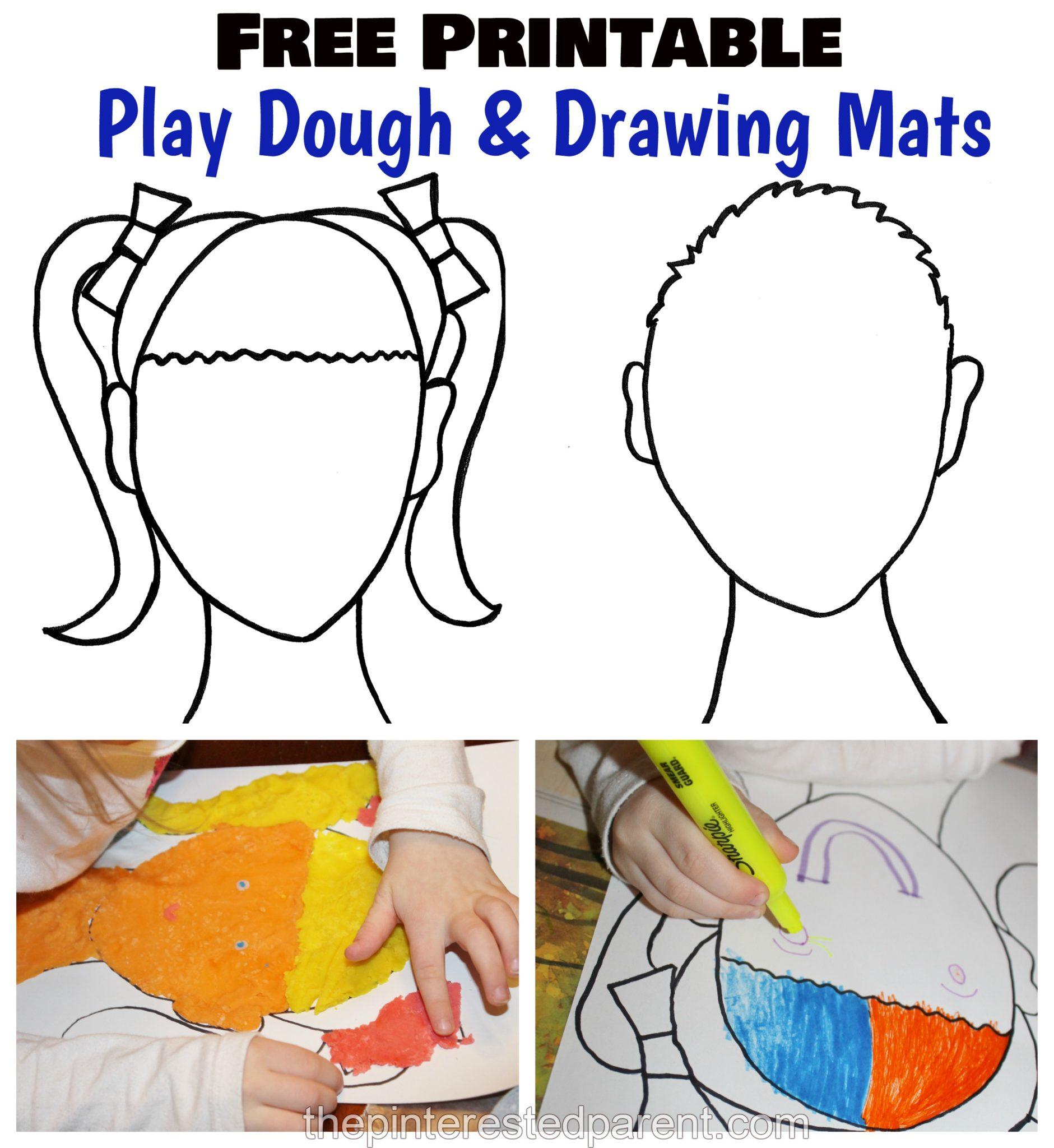 Printable Face Play Dough Mats The Pinterested Parent