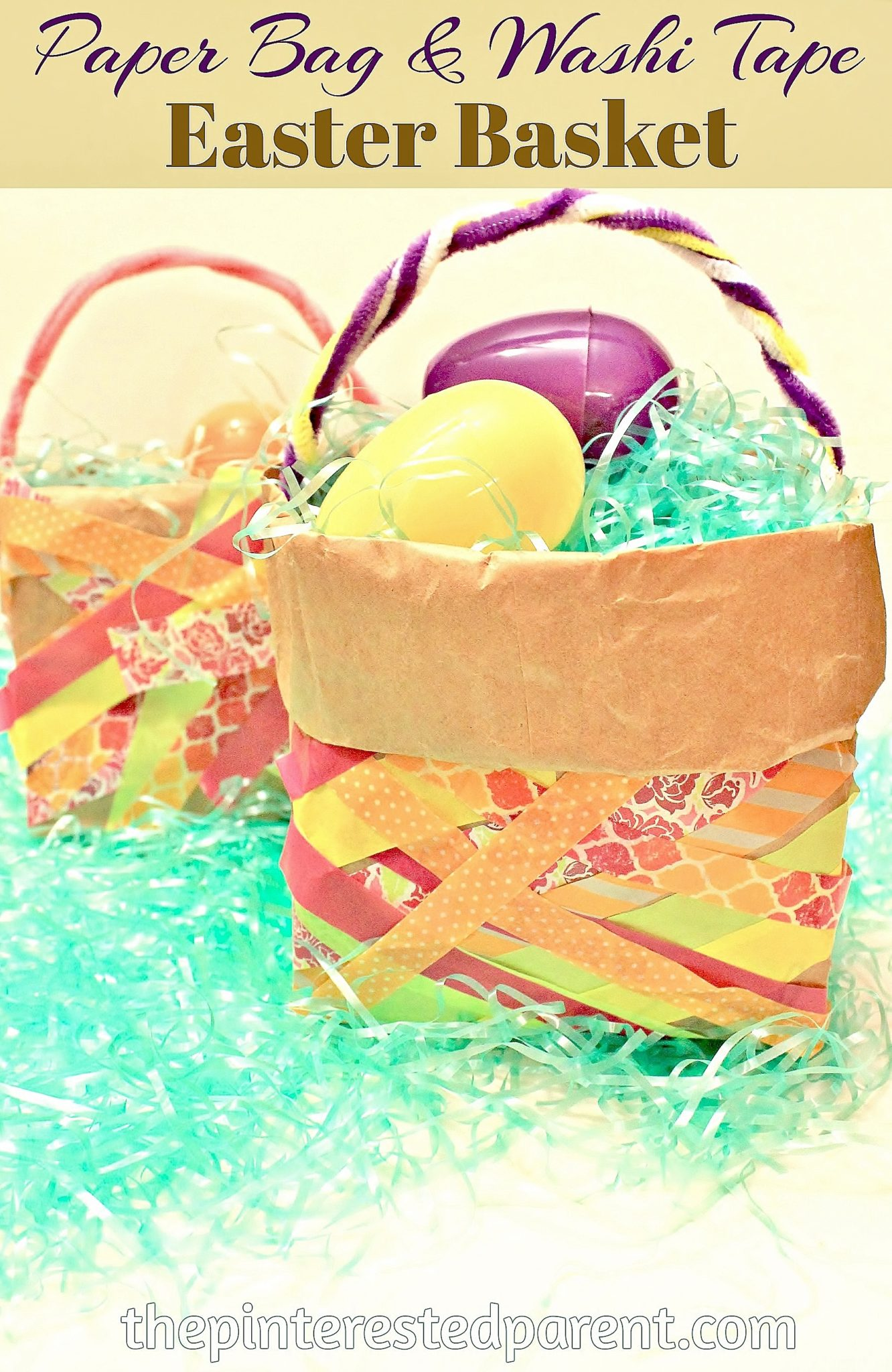 paper basket craft paper bag amp washi easter basket the pinterested parent 2608