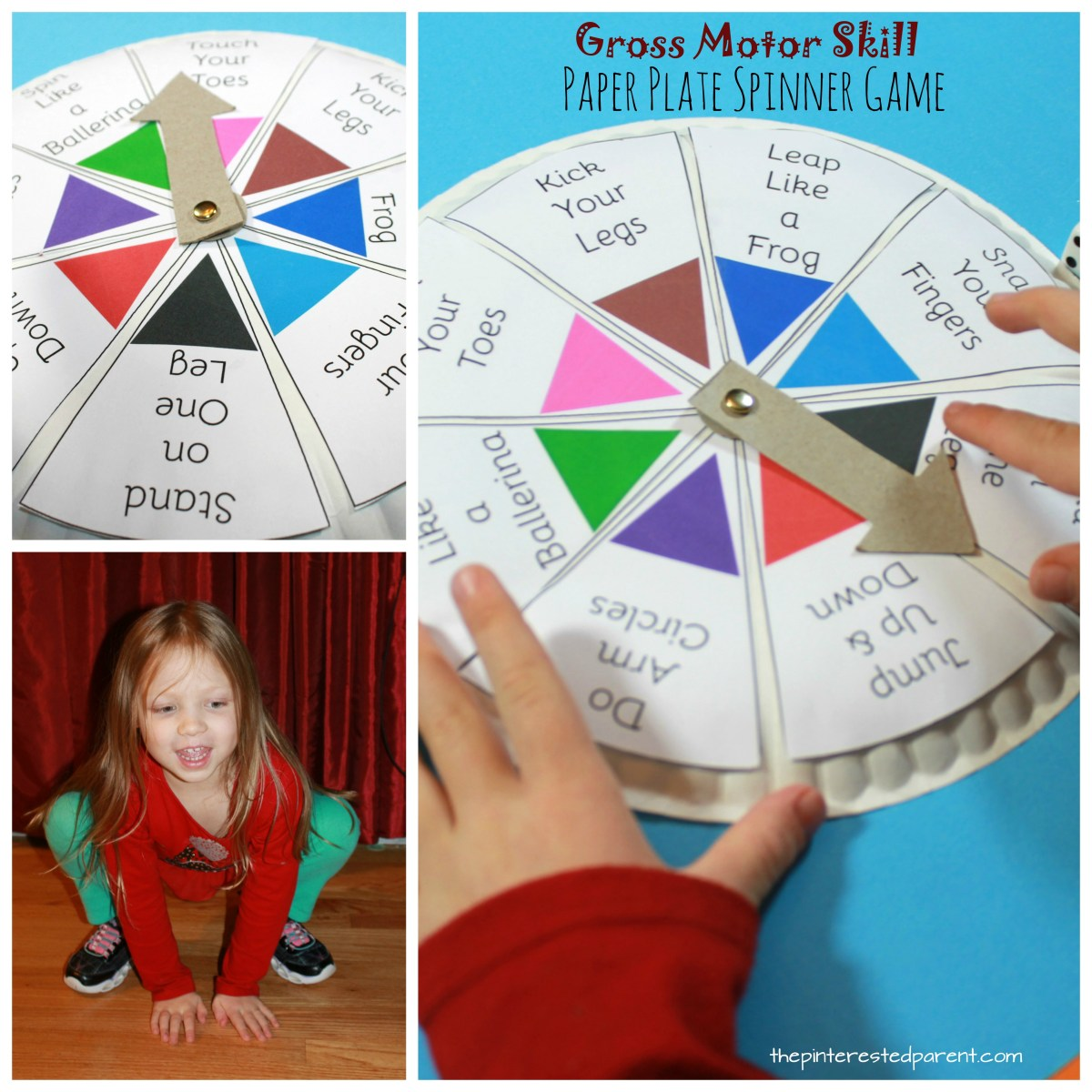 Spin, Roll & Count Gross Motor Skill Game