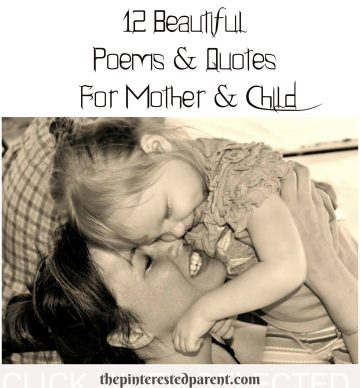 12 quotes & poems about motherhood & children - poetry mother & child.