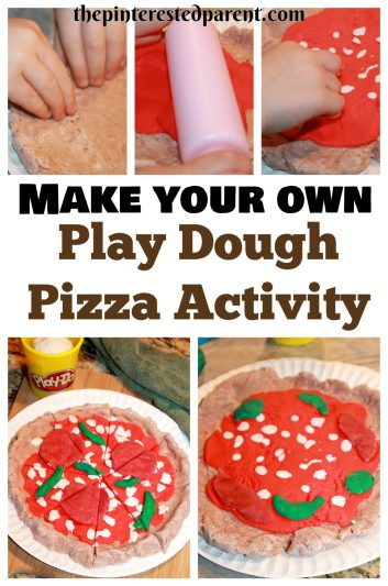 Build a Play Dough pizza activity. Play-doh food creations for kids