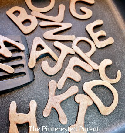 Alphabet Pancakes - easy pancake art for kid's breakfast -fun food ideas