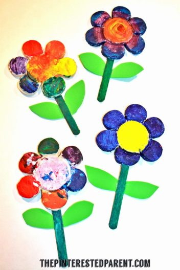 Salt Dough Clay Flowers. This adorable spring or summer arts & crafts project for kids would also make a wonderful gift for Mother's Day or any special occasion