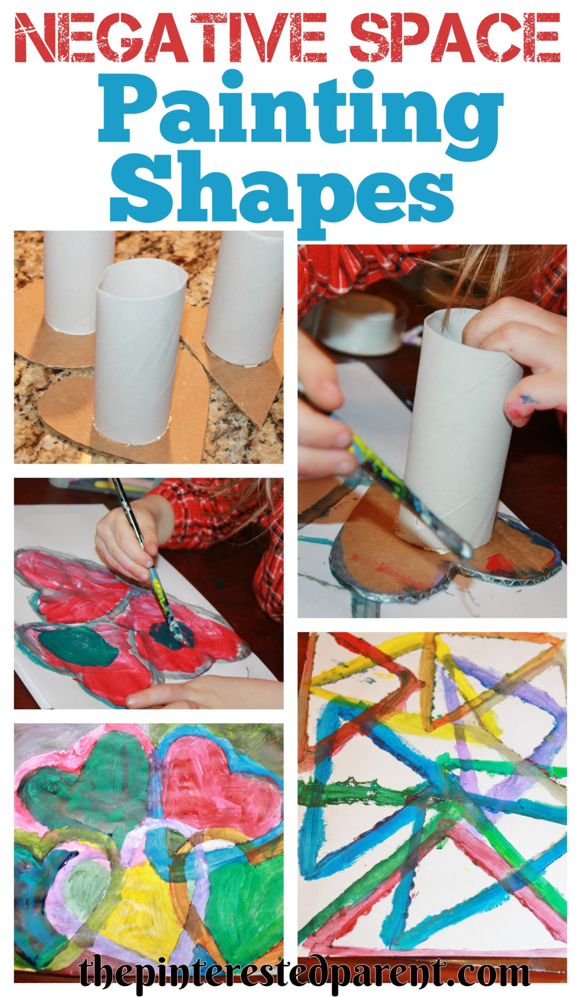 Shapes For Negative Space Painting The Pinterested Parent