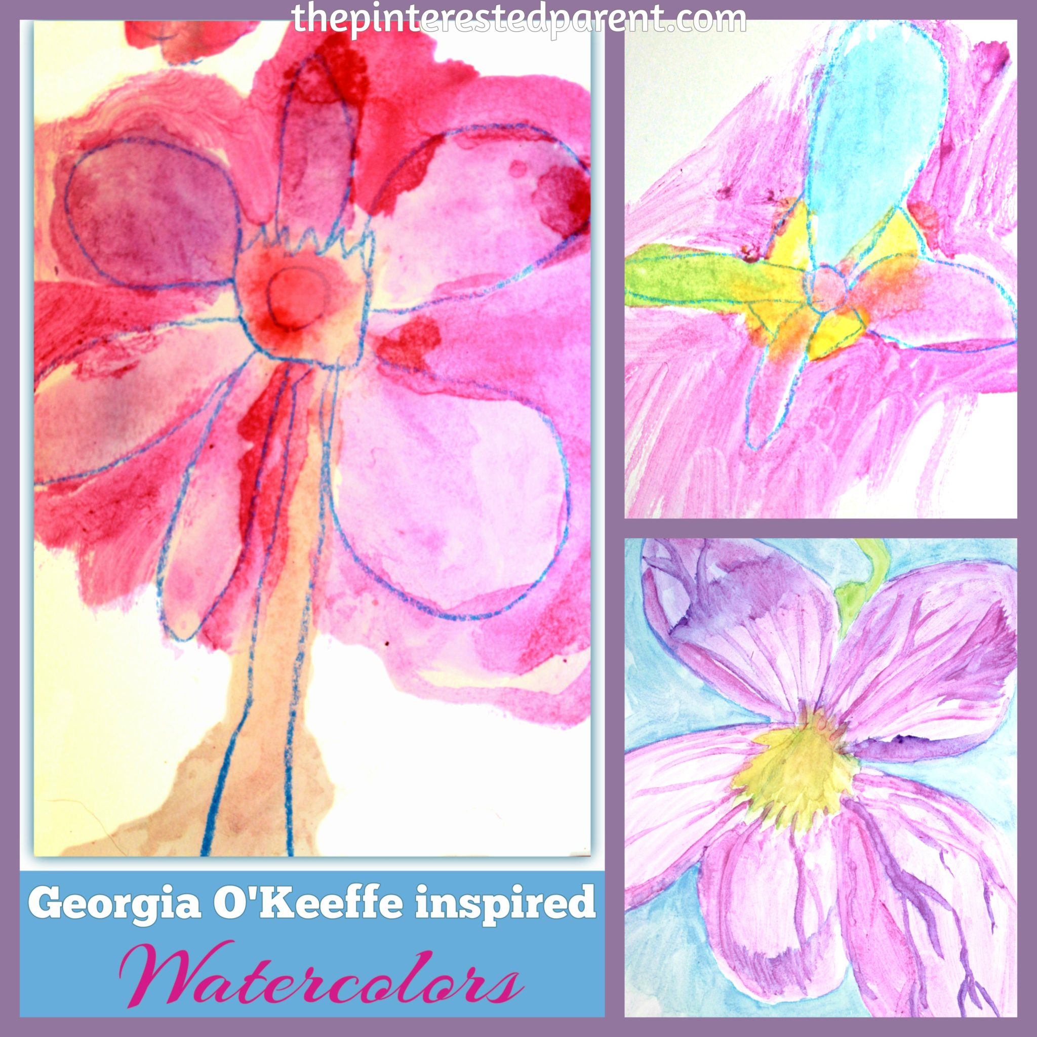 georgia o u0027keeffe inspired flower paintings u2013 the pinterested parent
