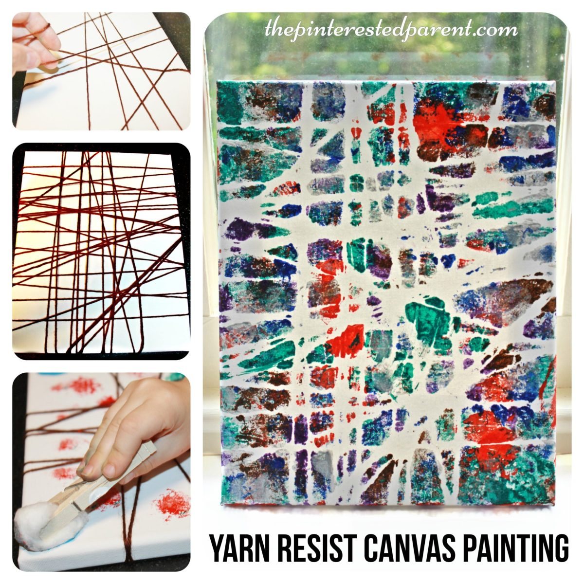 Yarn Wrapped Resist Art