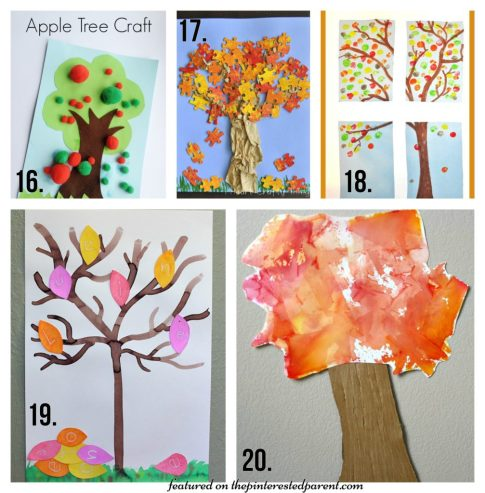 20 Beautiful Fall Tree Arts & Crafts project Ideas for kids - Autumn crafts for preschoolers.,