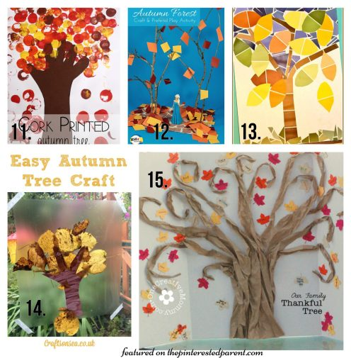 20 Beautiful Fall Tree Arts & Crafts project Ideas for kids - Autumn crafts for preschoolers.