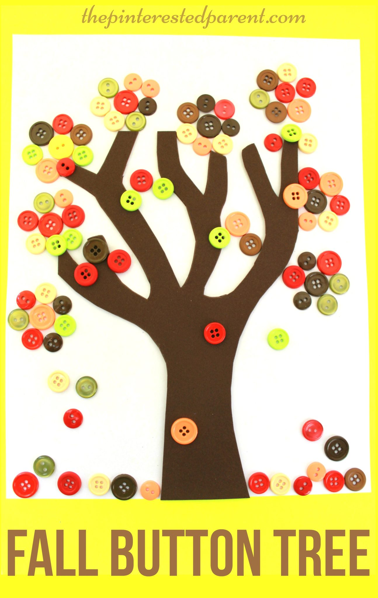 Autumn Button Tree The Pinterested Parent