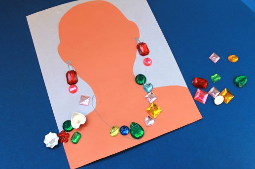 Jewelry craft - make a necklace & earrings - kid's arts & craft activities