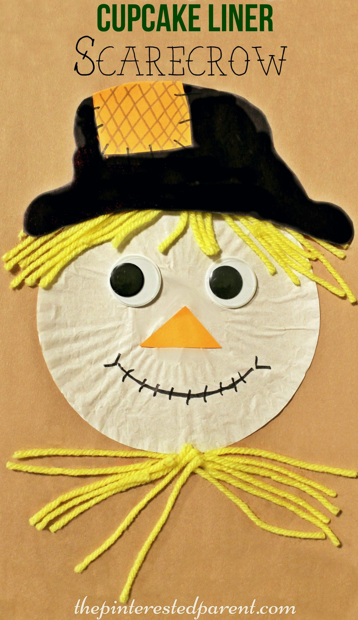 Cupcake Liner Scarecrow The Pinterested Parent