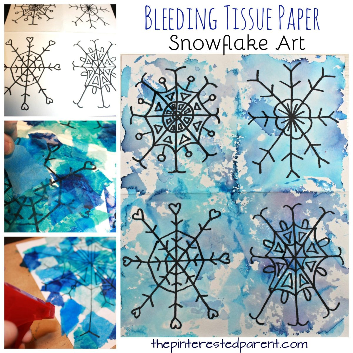 Bleeding Tissue Snowflake Art