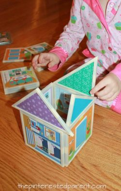 Imagine and Build Magnetic Dollhouse from Oriental Trading Company. This is a wonderful gift for a little engineer .
