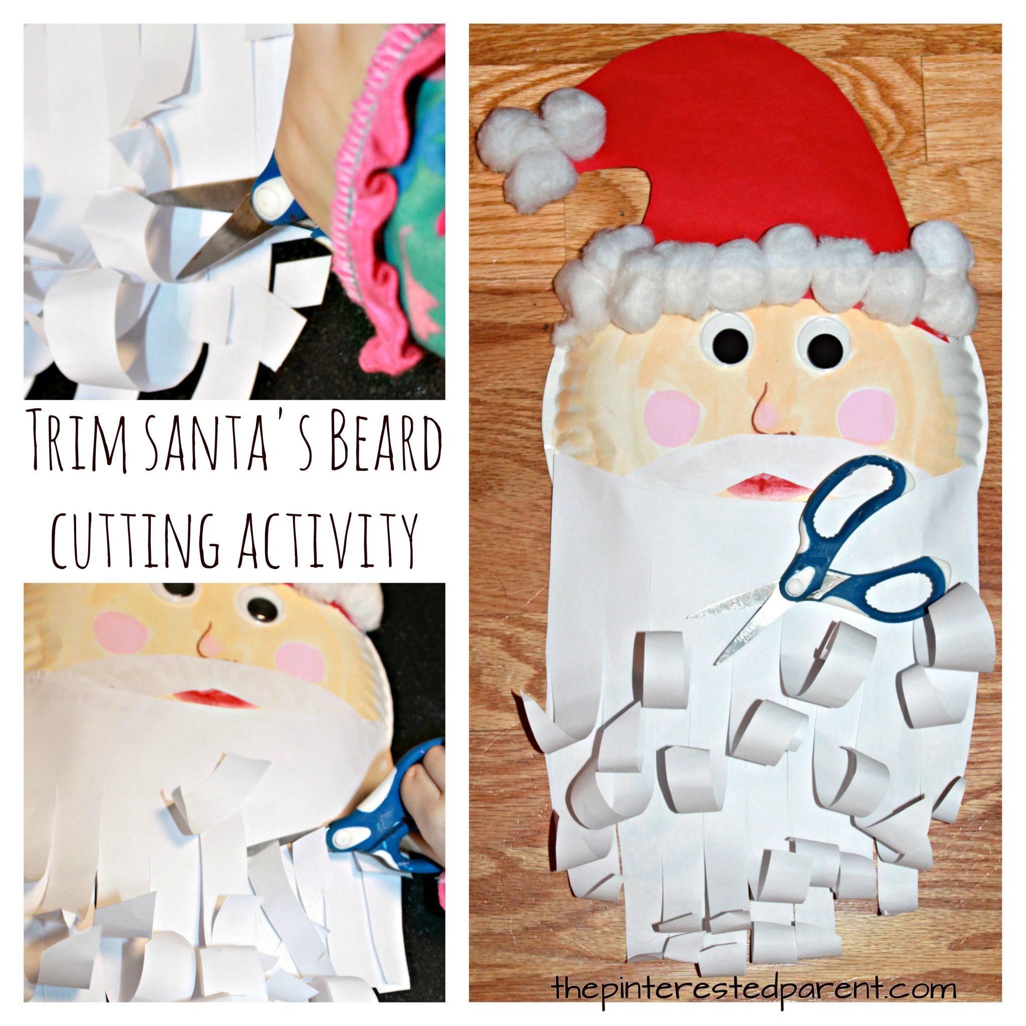 Trim Santa S Beard Cutting Activity The Pinterested Parent