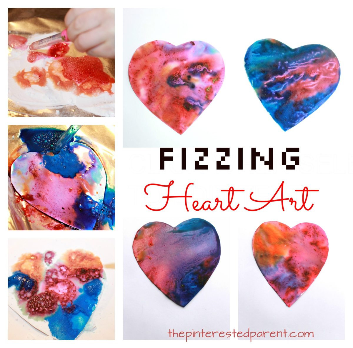 Fizzing Heart Art