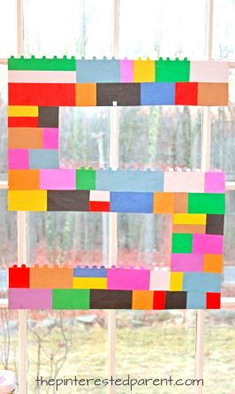 Use construction paper to make a great Lego party decoration for a Lego themed birthday party for the kids. Arts and crafts