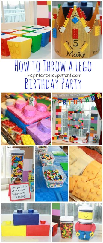 Great Lego themed birthday party ideas for kids. decorations, food and activities. Kid's