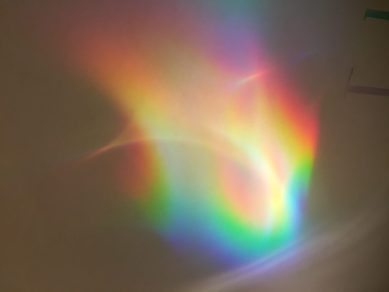 Make a rainbows using a CD and water. Simple science fun for preschoolers and kids
