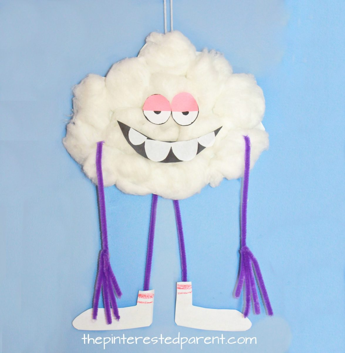 Paper Plate Cloud Guy Craft