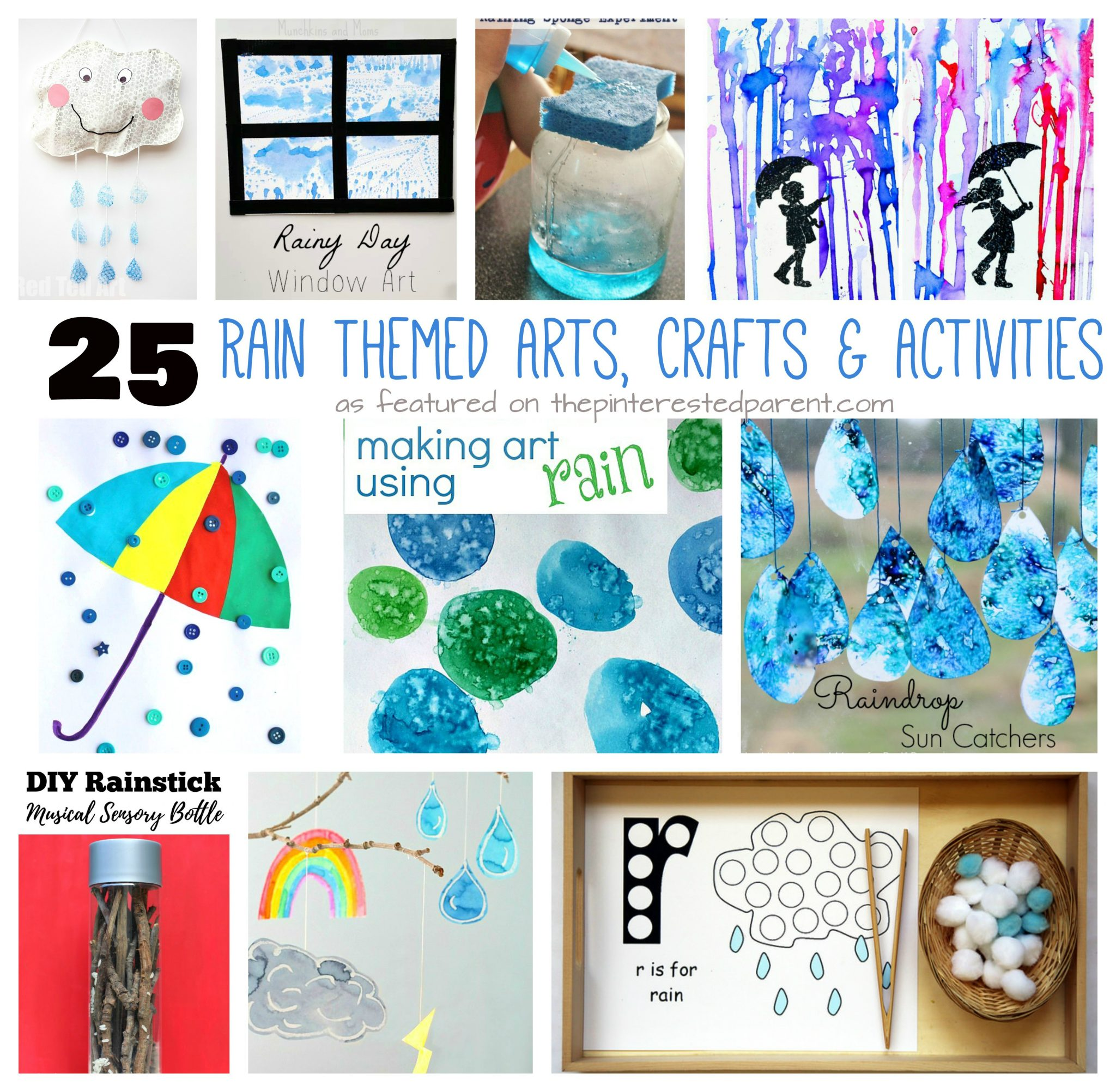 25 Rain Themed Arts Crafts Amp Activities The Pinterested Parent