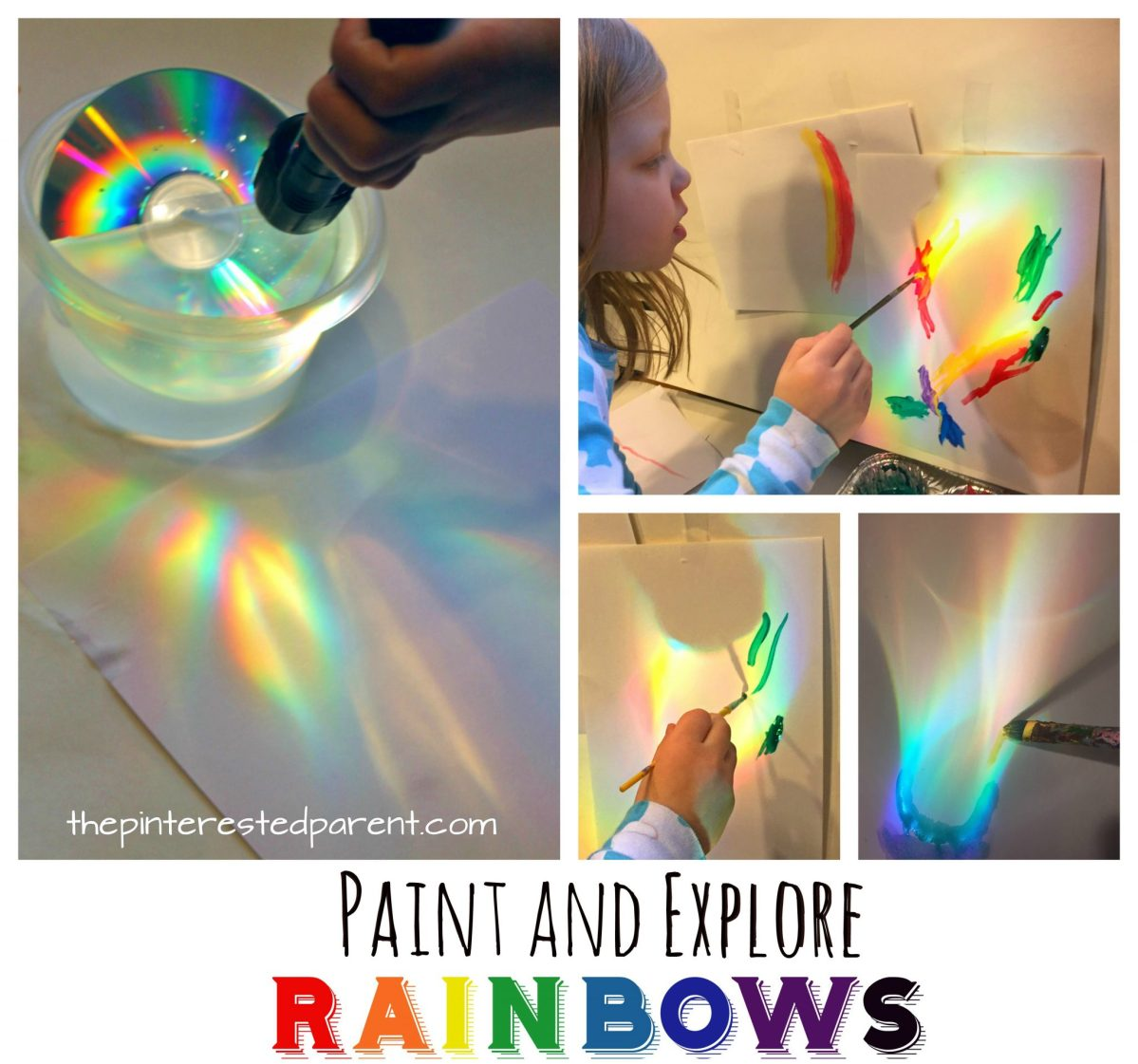 Make, Explore, Paint Rainbows