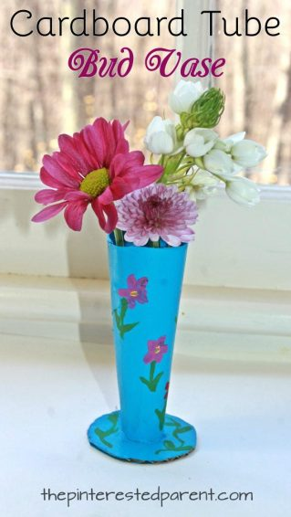 Cardboard Tube Bud Vase – The Pinterested Parent on flower plates, flower furniture, flower coral, flower bells, flower pitchers, flower teapots, flower candles, flower fairy lights, flower bud curtains, flower bookends, flower mugs, flower flowers, flower tables, flower baskets, flower vase design, flower paperweights, flower night lights, flower vase holder, flower corsages, flower urns,