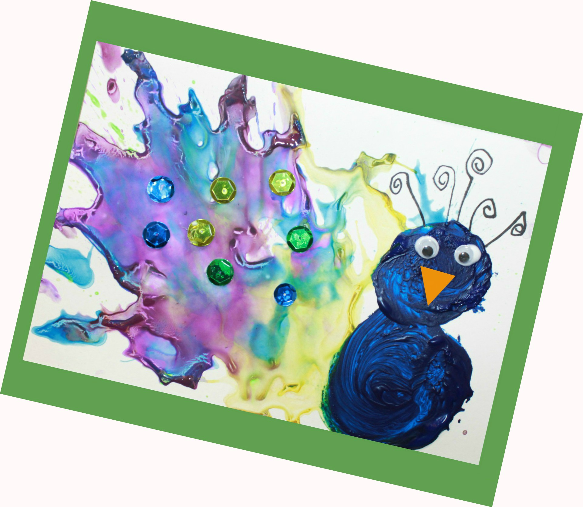 straw blown peacock painting fun kids arts and crafts projects blow painting is great