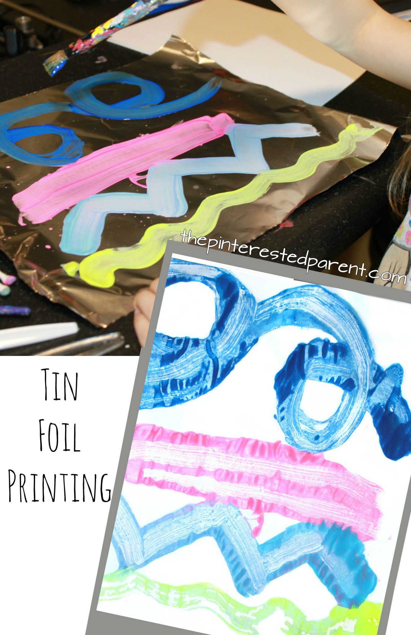 Tin Foil Paint Printing For Kids – The Pinterested Parent