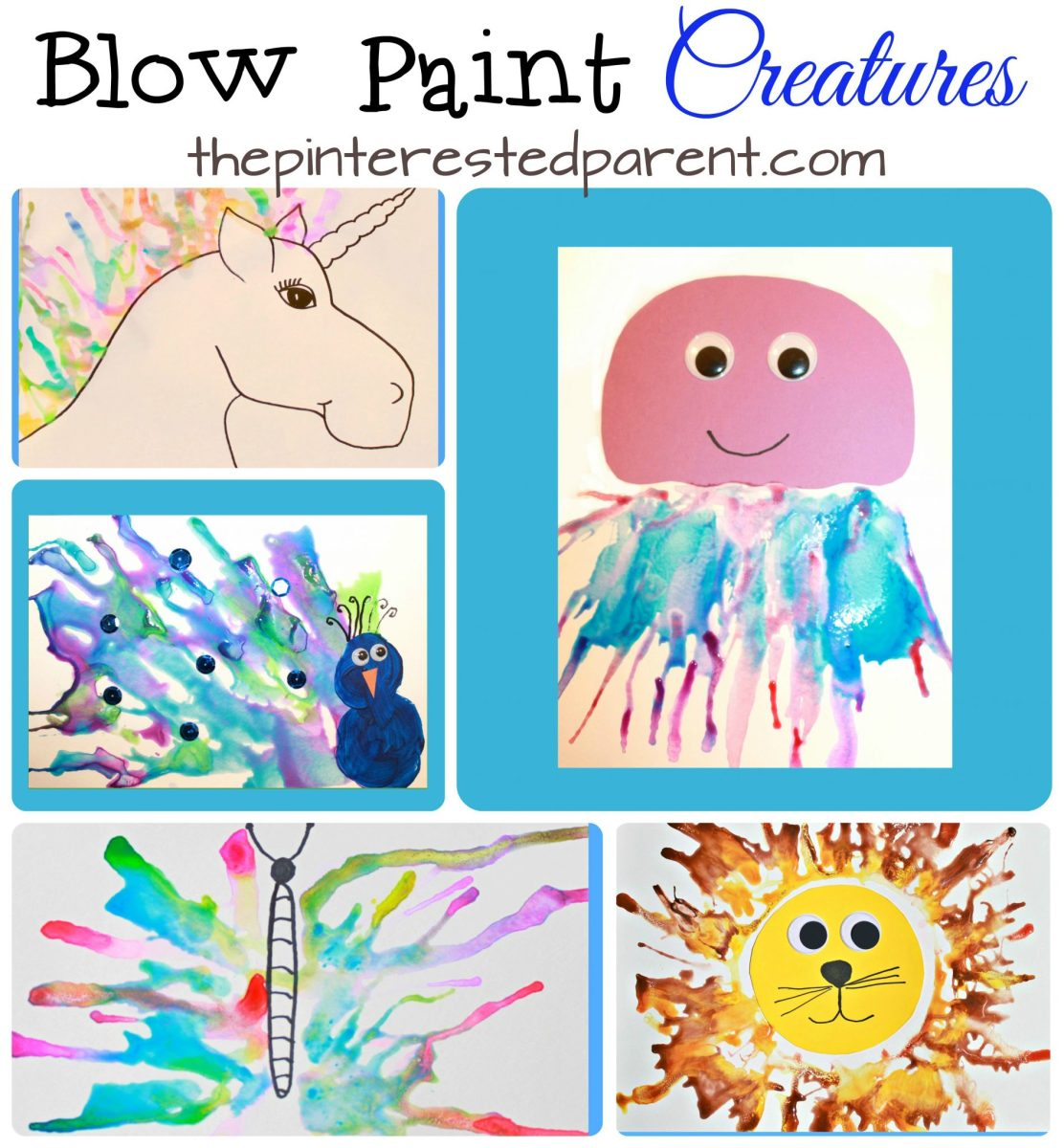 Blow Paint Art Creatures